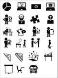 Значки образования иллюстрация штока