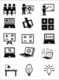 Значки образования Стоковое фото RF