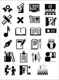 Значки образования иллюстрация вектора