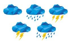 Значки облака для вычисляя сети и app Стоковое Изображение