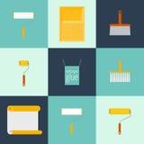 Значки домашнего ремонта плоские Стоковые Фото