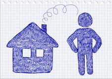 Значки дома и человека Стоковая Фотография RF