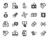 Значки оплаты Комплект перехода Accept, оплаты с телефоном и чешет по почте вектор иллюстрация штока