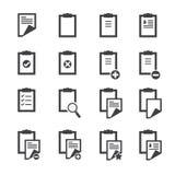 Значки доски сзажимом для бумаги Стоковые Фотографии RF