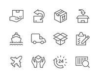 Значки доставки Стоковое Изображение