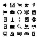 Значки отзывчивого пользовательского интерфейса твердые иллюстрация штока