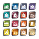 Значки охраны окружающей среды Стоковое Изображение RF