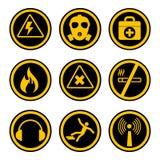 Значки охраны труда и здоровья бесплатная иллюстрация