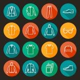 Значки одежды людей Стоковая Фотография RF