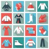 Значки одежды иллюстрация вектора