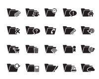 Значки папки файла Иллюстрация вектора