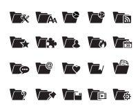 Значки папки файла Бесплатная Иллюстрация