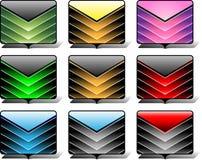 Значки папки Стоковые Фотографии RF