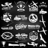 Значки парящего клуба ретро и элементы дизайна Стоковое Изображение
