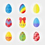 Значки пасхальных яя иллюстрация вектора