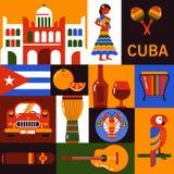 Значки перемещения Кубы Стоковые Фотографии RF