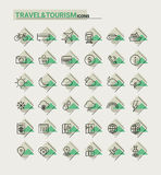 Значки перемещения, туризма и погоды, комплект 1 Стоковая Фотография RF