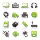 Значки периферийных устройств компьутера и аксессуаров Стоковые Фотографии RF
