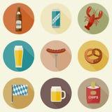 Значки пива Стоковые Изображения