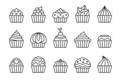 Значки пирожных Стоковые Фотографии RF