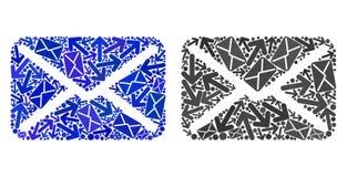 Значки письма мозаики троп почты иллюстрация штока