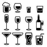 Значки питья Стоковое фото RF