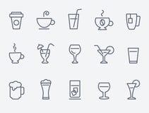 Значки питья Стоковое Изображение