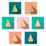 Значки пиццы куска Стоковая Фотография RF