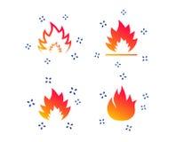 Значки пламени огня Знаки жары r иллюстрация штока