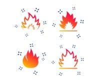Значки пламени огня Знаки жары r бесплатная иллюстрация
