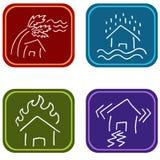 Значки повреждения дома Стоковые Изображения