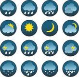 Значки погоды - иллюстрация Стоковые Фотографии RF