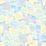 Значки погоды помещенные на безшовной предпосылке Стоковая Фотография RF