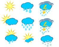 Значки погоды Стоковая Фотография