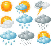 Значки погоды иллюстрация штока