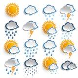 Значки погоды Стоковое Изображение RF