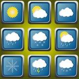Значки погоды Стоковая Фотография RF