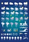Значки погоды Стоковые Изображения RF