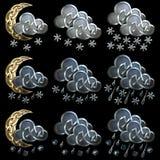 Значки погоды - 4 Стоковое Фото