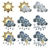 Значки погоды - 1 Стоковая Фотография RF