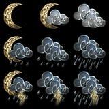 Значки погоды - 3 Стоковые Фото