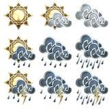 Значки погоды - 1 Стоковые Изображения