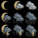Значки погоды - 3 Стоковое фото RF