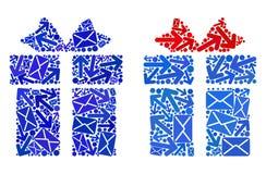 Значки подарка коллажа троп почты бесплатная иллюстрация