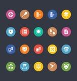 Значки покрашенные глифами вектора 29 иллюстрация штока