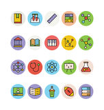 Значки покрашенные образованием вектора 1 Стоковое Фото