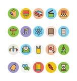 Значки покрашенные образованием вектора 10 Стоковые Изображения