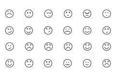 Значки покрашенные Smiley вектора 5 Стоковая Фотография