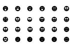 Значки покрашенные Smiley вектора 3 Стоковая Фотография RF