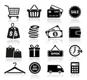 Значки покупок Стоковые Изображения
